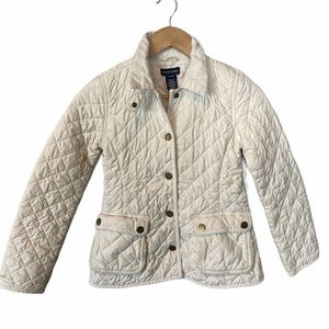 Ralph Lauren quilted snap jacket white 8/10